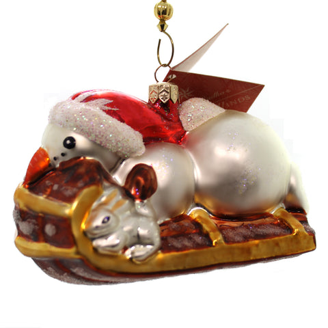 Christopher Radko Snow Racer Glass Ornament 21909