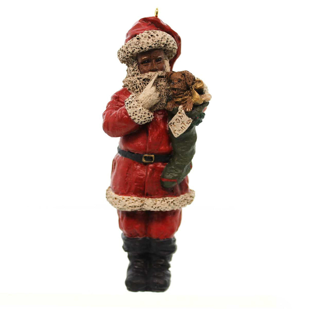 All Gods Children Santa & Scooty Resin Ornament