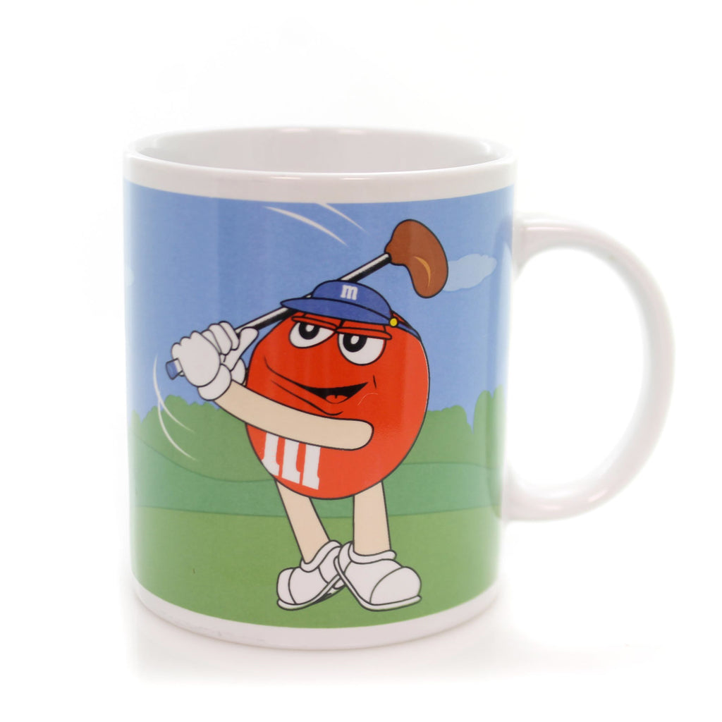 Licensed M & M GOLD/BASEBALL MUG Ceramic Mars Chocolates Sports Coffee MMM9