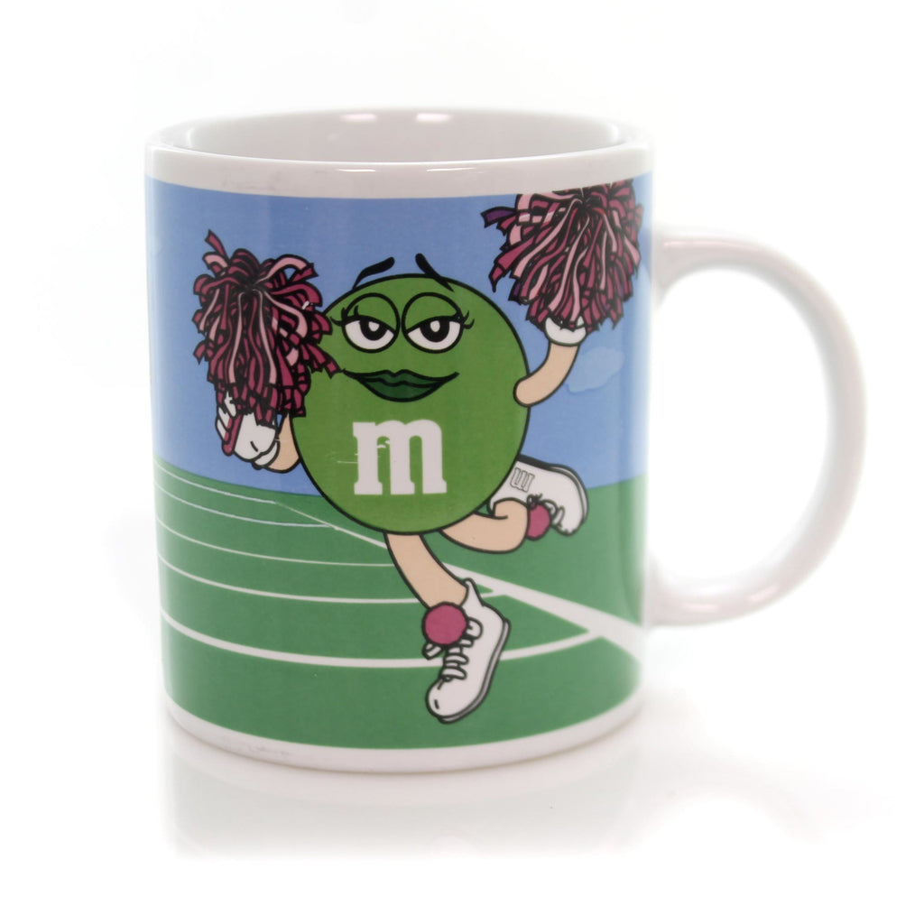 Licensed M & M CHEERLEADER MUG Ceramic Mars Chocolates Football Coffee MMM10