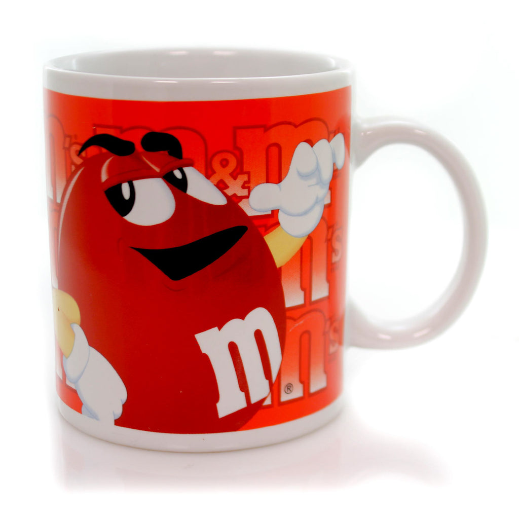 Licensed M & M RED MUG Ceramic Mars Chocolates Coffee MMM12