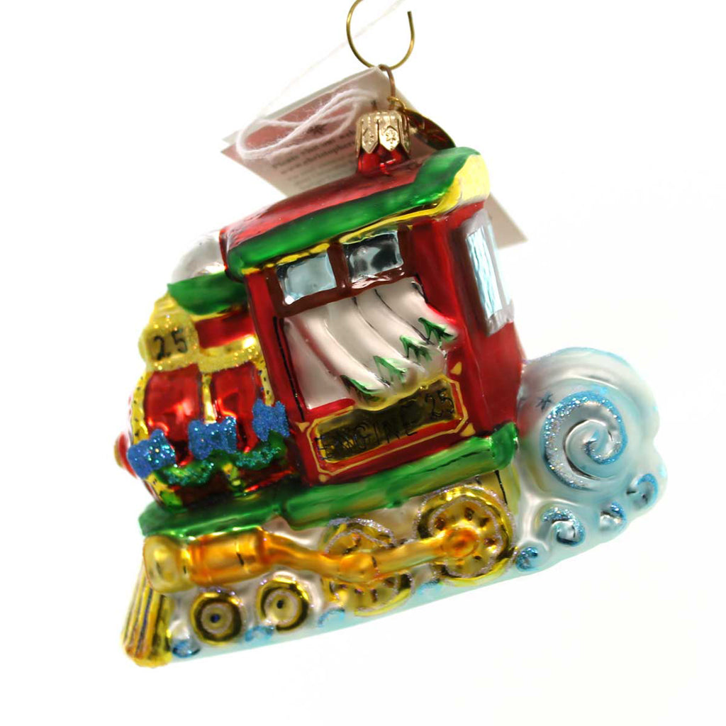 Christopher Radko North Pole Junction Glass Ornament