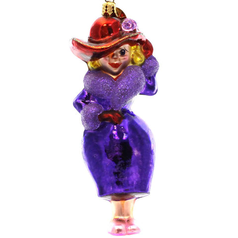 Christopher Radko RUBY RED Glass Ornament Red Hat Society 22270