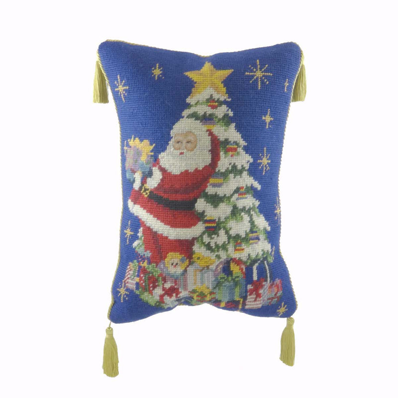 Christopher Radko Santa Pillow Accent Pillow