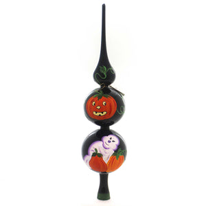Laved Italian Ornaments Halloween Ghost Pumpkin Finial Tree Topper / Finial - Story Book Kids