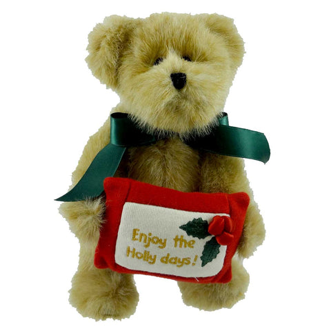 Boyds Bears Plush HOLLY BEARY Fabric Christmas Bear 914378 22609