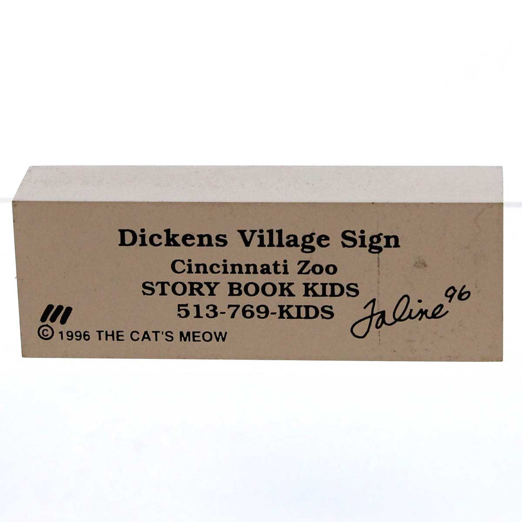 Cats Meow Dickens Village Sign Keepsake