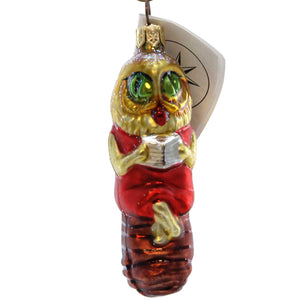 Christopher Radko Miss Wise Glass Ornament