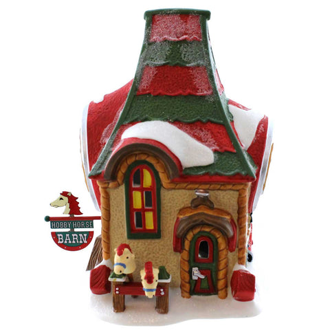 Dept 56 Buildings HOBBY HORSE BARN Porcelain North Pole Toy Land 4036542 22904