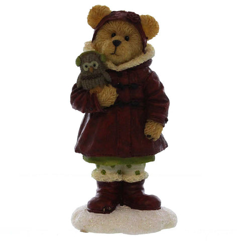 Boyds Bears Resin Heidi Goodfriend With Hoo Warm Wishes Christmas Figurine 22976