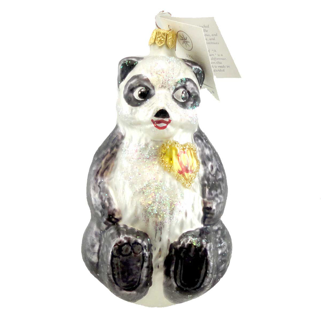 Christopher Radko A Winter Bear's Heart Glass Ornament