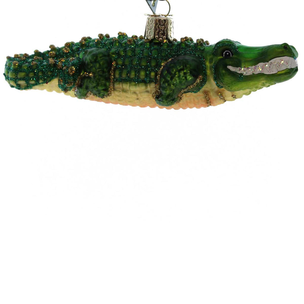 Old World Christmas Alligator Glass Ornament