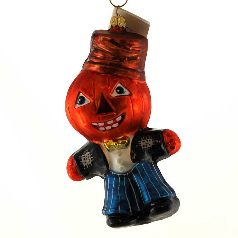 Christopher Radko Pumpkin Pete Halloween Glass Ornament