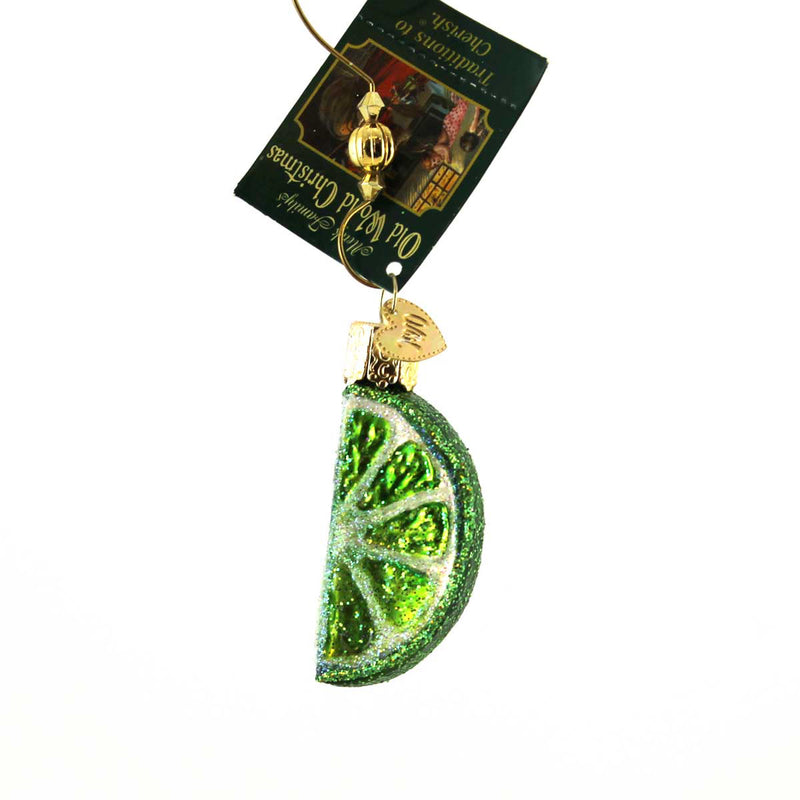 Old World Christmas Lime Slice Glass Ornament