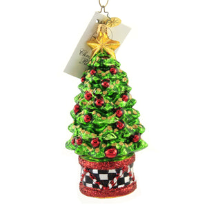 Christopher Radko Miss Caycee's Holiday Tree Glass Ornament