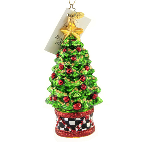 Christopher Radko MISS CAYCEE'S HOLIDAY TREE Glass Christmas Tree Star 23446