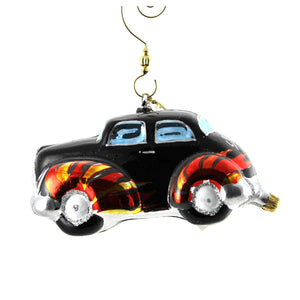 Christopher Radko Hot Wheels Glass Ornament