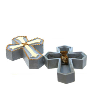 Boyds Bears Resin Cross Keepsake Box Keepsake