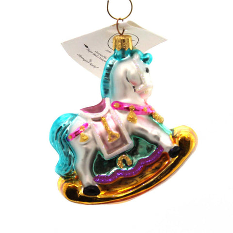 Christopher Radko Carousel Of Hope Ball Ornament Glass Ornament 23647