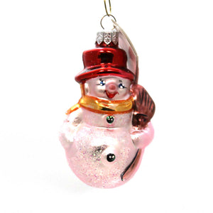 Christopher Radko Littlest Snowman Glass Ornament