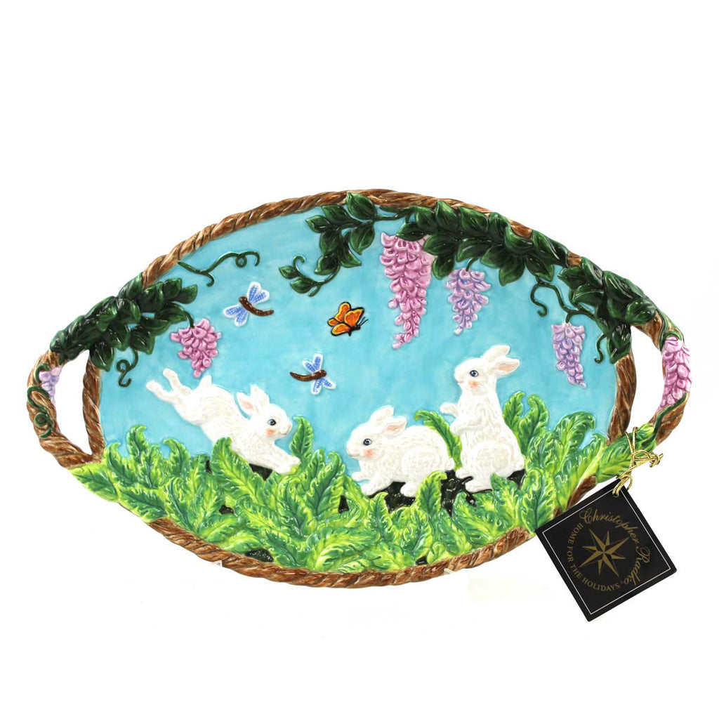Christopher Radko Fern Meadow Platter Easter & Spring Tabletop