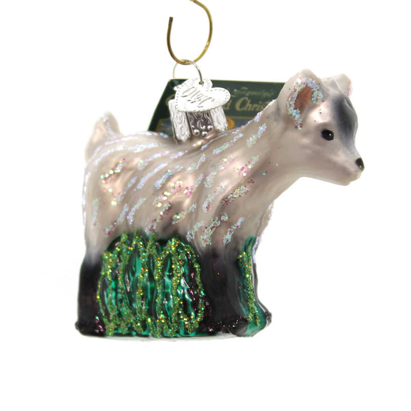 Old World Christmas Pygmy Goat Glass Ornament