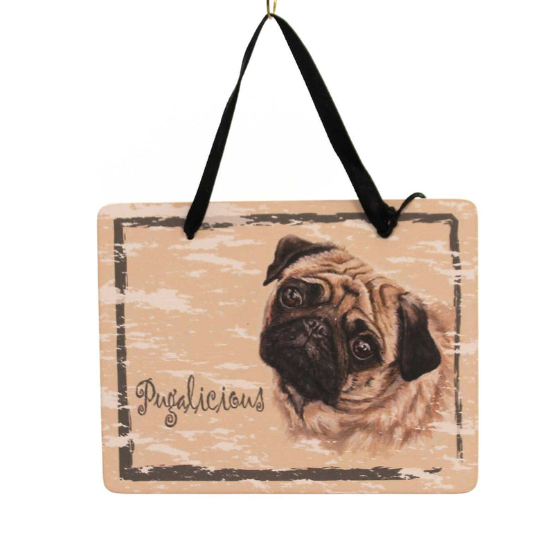 Animal Pug Plaque Sign / Plaque - Story Book Kids