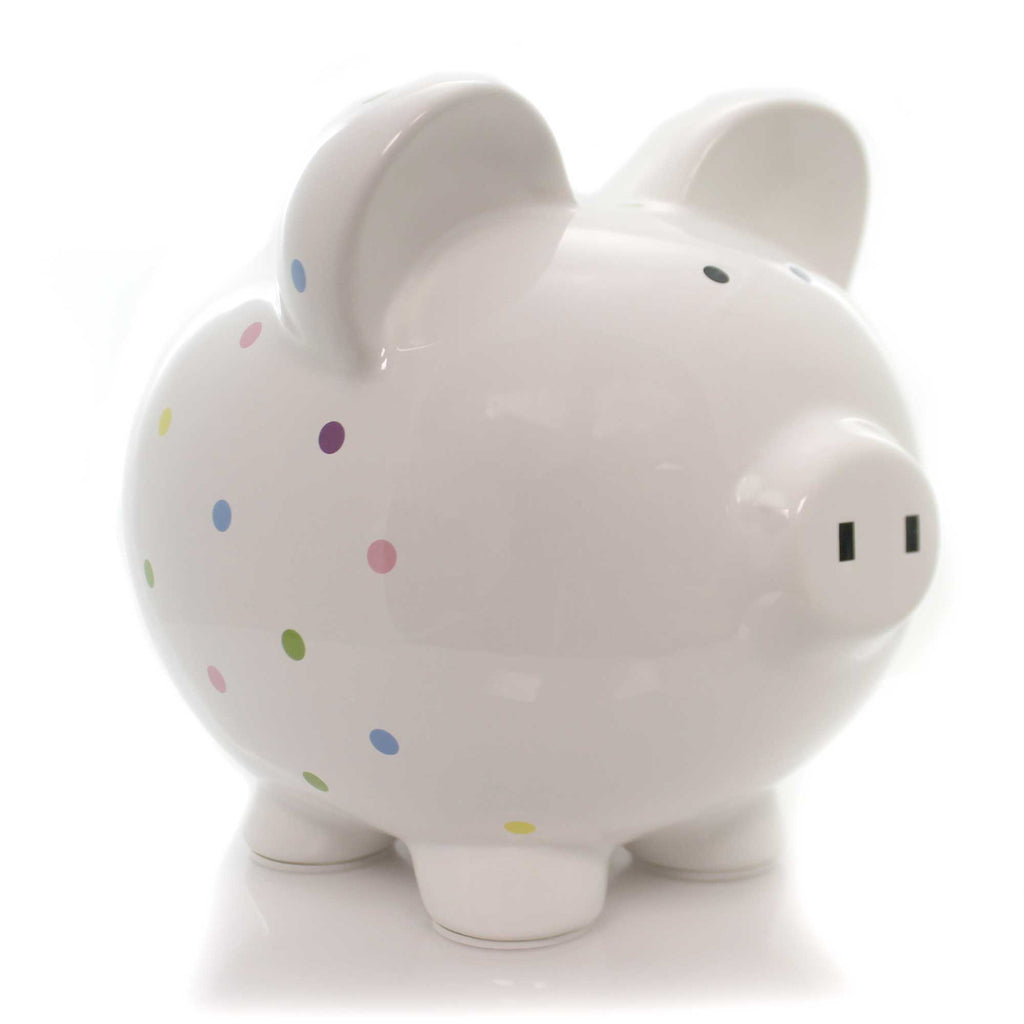 Confetti Piggy 3606 Bank Piggy Banks And Banks - SBKGIFTS.COM - SBK Gifts Christmas Shop Cincinnati - Story Book Kids