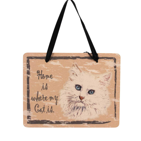Animal White Cat Plaque Sign / Plaque 23972