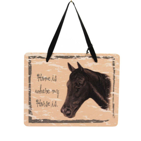 Animal Black Horse Plaque Sign / Plaque 23981
