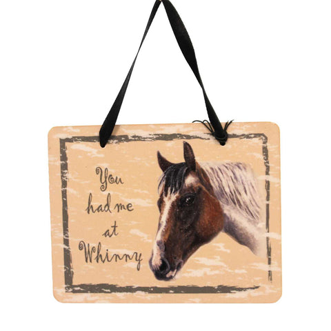 Animal PAINT HORSE PLAQUE Wood Whinny Ornament GP127 23986