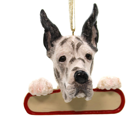 Personalized Ornaments Harlequin Great Dane Personalized Ornament 24078