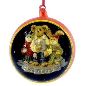 Boyds Bears Resin Chandler, Constance, Felicity Glass Ornament