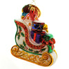 Christopher Radko Holly-Day Sleigh Glass Ornament