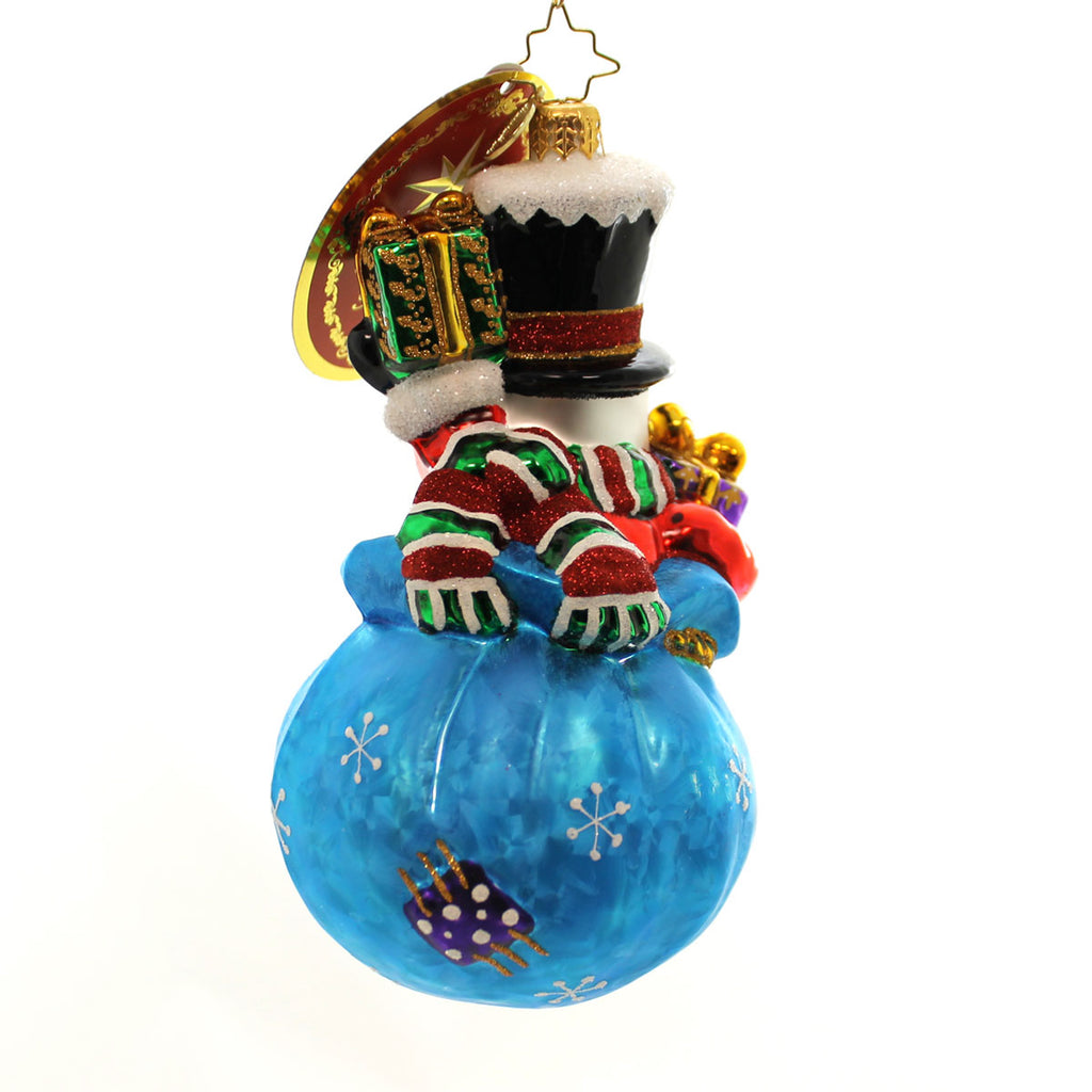 Christopher Radko A Chilly Gift Glass Ornament