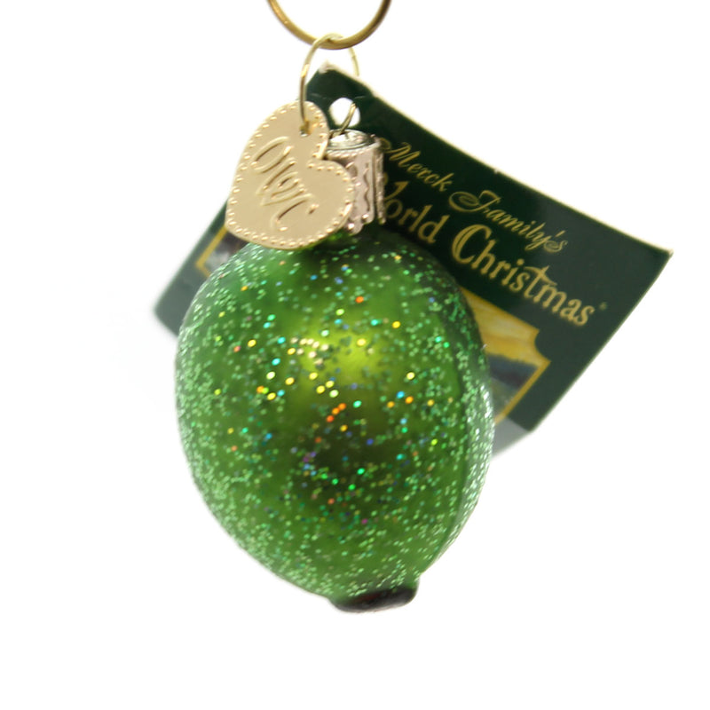 Old World Christmas Stuffed Green Olive Glass Ornament