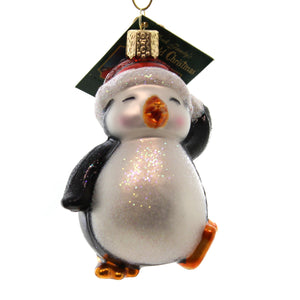 Old World Christmas Dancing Penguin Glass Ornament
