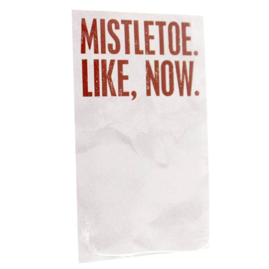 Christmas Mistletoe Like, Now Note Pad Notepad