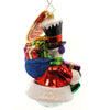 Christopher Radko Top Hat Frosty Glass Ornament