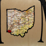 Home Decor Ohio Fringe Heart Cincinnati Oillow Accent Pillow
