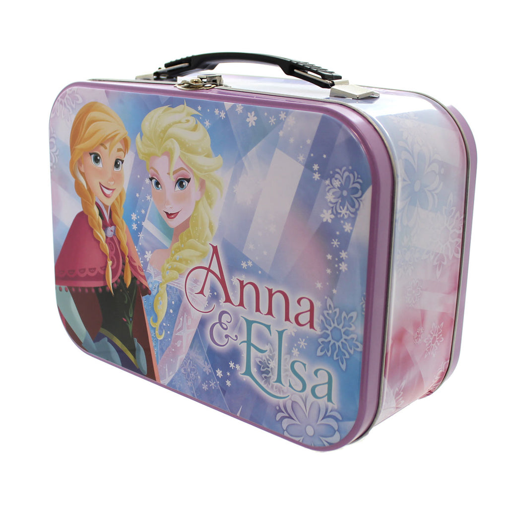 Disney Elsa & Anna Tin Tote Storage Box