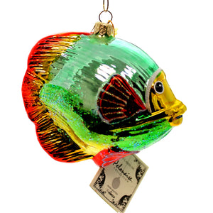 Polonaise Ornaments Fish Glass Ornament