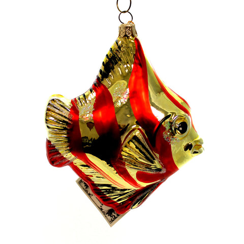 Polonaise Ornaments Angel Fish Glass Ornament 24636