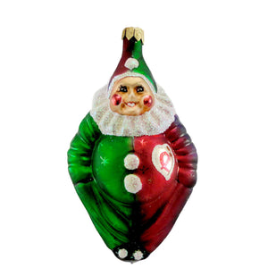 Christopher Radko A Caring Clown Glass Ornament