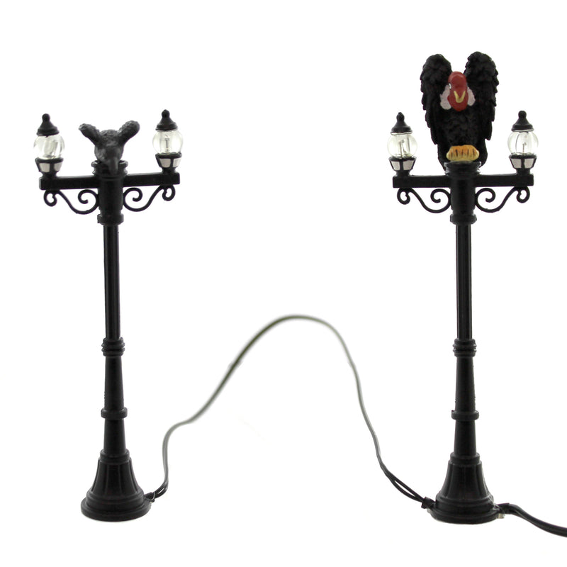 Dept 56 Accessories Waiting On Lunch Streetlights Village Lighted Halloween Accessory