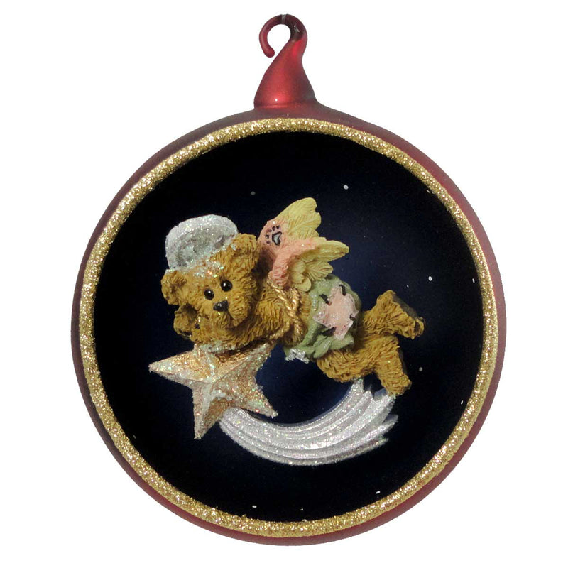 Boyds Bears Resin McKenzine Shooting Star Glass Ornament