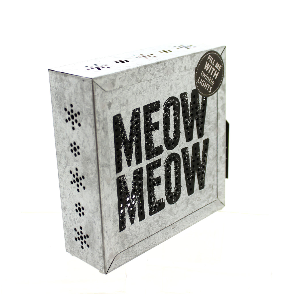 Home Decor Meow Meow Metal Wall Art Tabletop