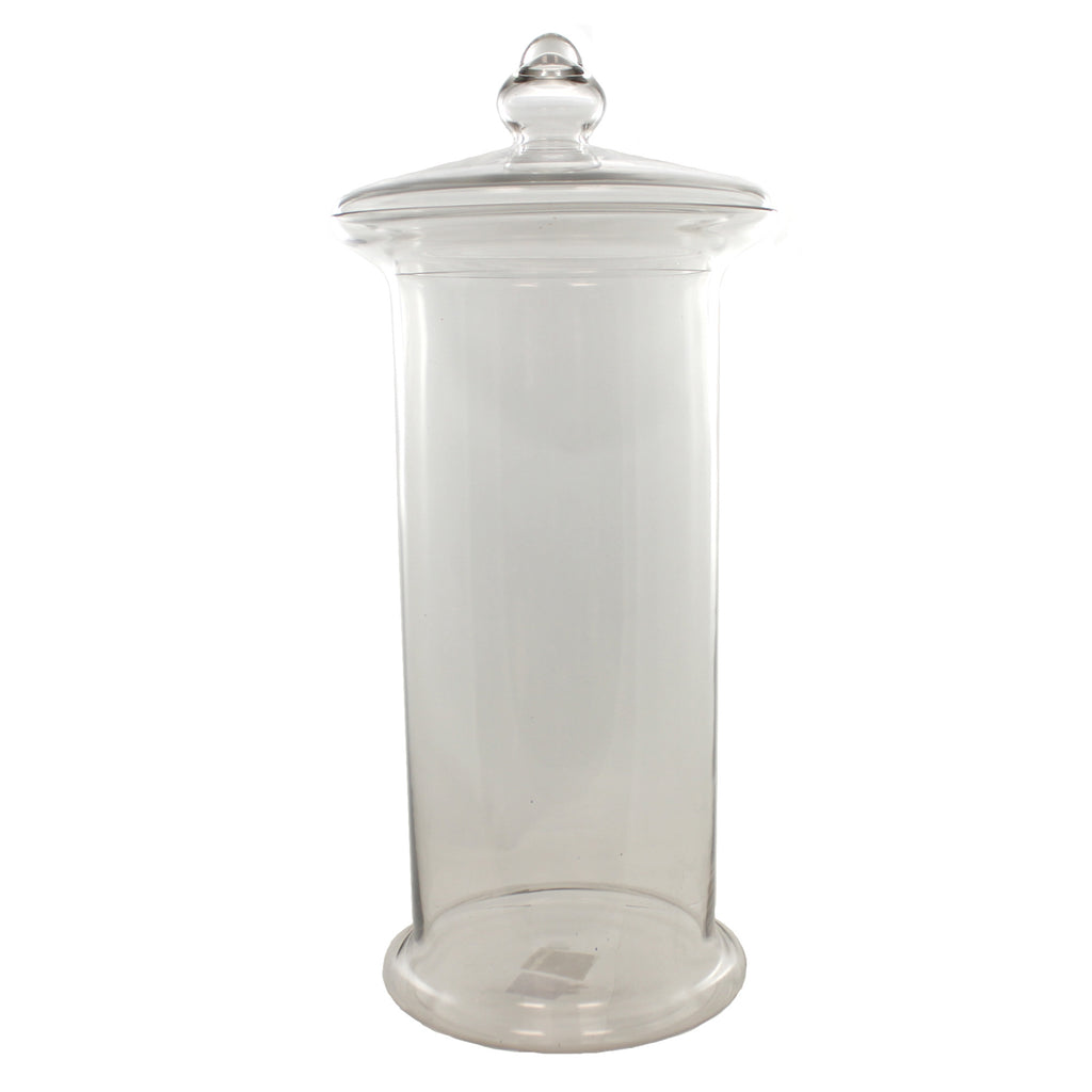 Home Decor Glass Jar With Lid Tabletop