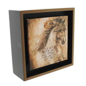 Animal Lp Horse Pure Air Shadow Box Sign / Plaque