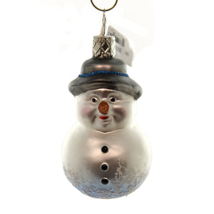 Inge Glas Old Friend Snowman Glass Ornament